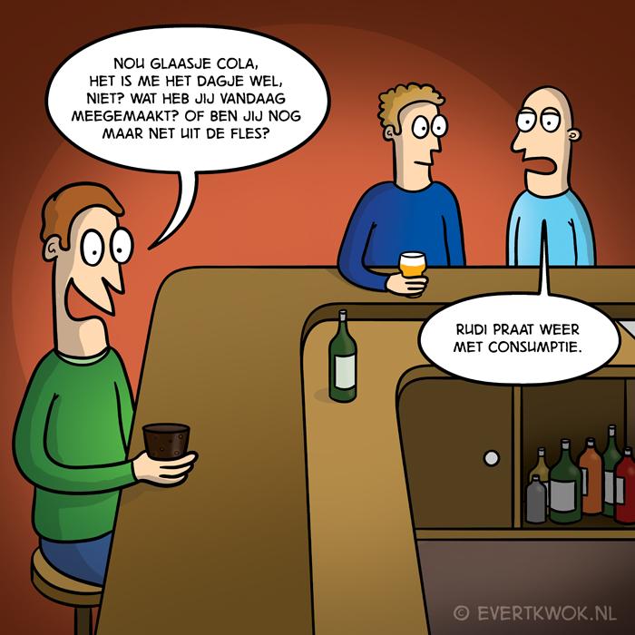 Praten met consumptie